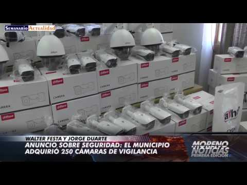 Anuncio sobre seguridad: El municipio adquirió 250 cámaras de vigilancia