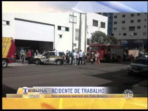 DOIS PINTORES MORREM EM ACIDENTE DE TRABALHO EM PATO BRANCO