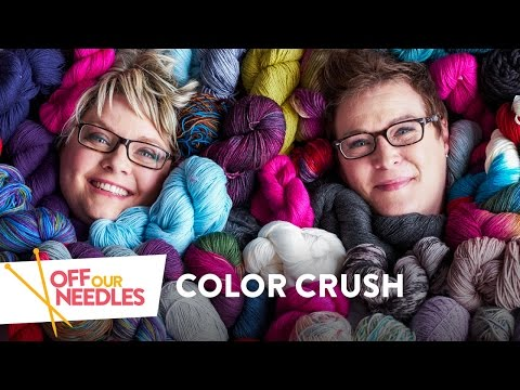 Crushing on Colorful Knitting: Stitchwork, Lucy Neatby & Pizza Hats | Off Our Needles Episode 1