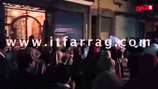 الإخوان يرفعون إشارات رابعة في مسيرة بالإسكندرية