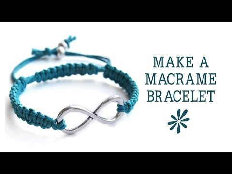 Make a knotted macrame friendship bracelet - jewelry making tutorial