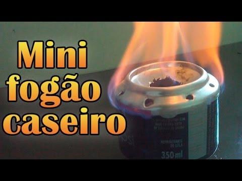 Como fazer um Mini fogão caseiro