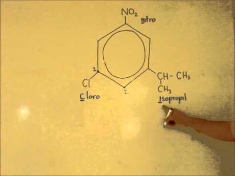 Como nombrar un derivado del benceno polisustituido
