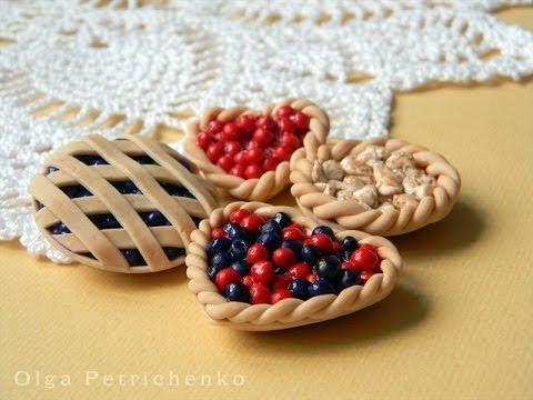 Пироги, сладости из полимерной глины.