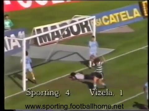 Sporting - 4 Vizela - 1 de 1988/1989 1/4 Final da Taça de Portugal