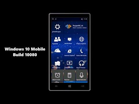 Windows 10 Mobile Insider Preview build 10080 Hands-On - deutsch