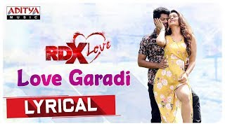 Love Garadi Lyrical || RDXLove Songs ||  Paayal Rajput, Tejus Kancherla || Radhan - ADITYAMUSIC