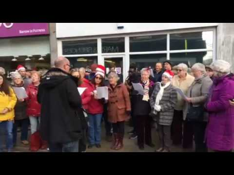 Flash Mob Carols - Barrow Town Centre (Video 2)