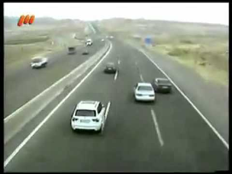 high speed police chase and Crash in Iran + English subtitles