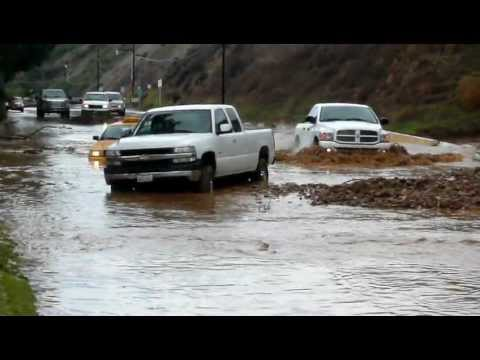 10 Videos - Los Angeles Flash Flood + Mud Slide Amature Footage