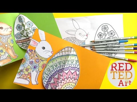 Easy Pop Up Easter Card - 3D Easter Egg DIY