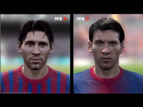 FIFA 12 vs FIFA 13: Player Faces (Barcelona Player Faces FIFA 13 and FIFA 12 Comparison)