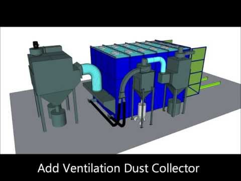 ABSS Panel Blast Room with Recovery System & Ventilation Dust Collector