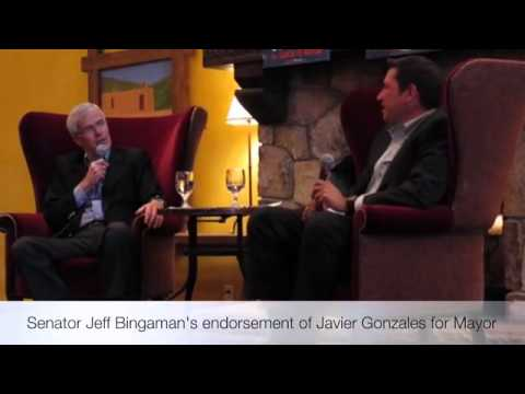 Jeff Bingaman Sits Down with Javier Gonzales