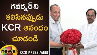 Governor ESL Narasimhan Meets KCR | KCR Latest Updates | TRS Party | Mango News - MANGONEWS