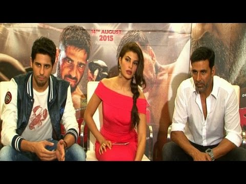 Akshay, Sidharth And Jacqueline Promoting 'Brothers'