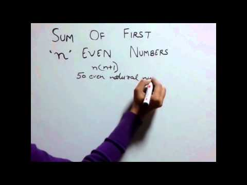 Trick 34: Sum of first n even natural numbers