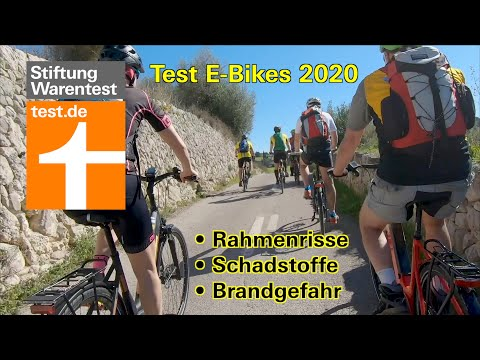 Stiftung Warentest: Video zum Test E-Bikes 2020: Brandgefahr, Rahmenrisse, Schadstoffe