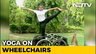 On International Yoga Day, The Differently Abled Show Their Skills - NDTV