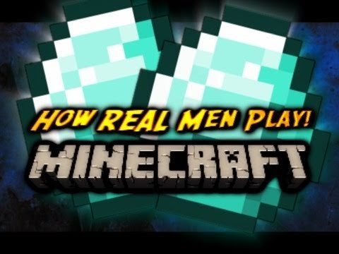 Minecraft How REAL Men Find DIAMONDS Old World Record 