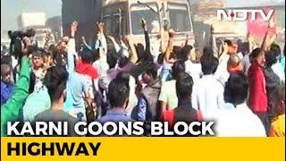 Karni Sena Blocks Highway In Protest Against Padmaavat - NDTV