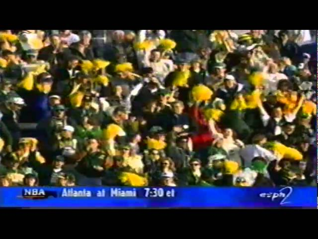 Oregon WR Patrick Johnson 69 yard touchdown on first play of game vs. Air Force 12-20-97