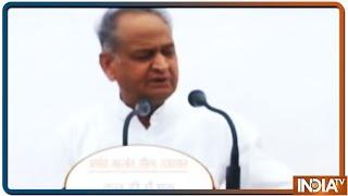 CM Gehlot के राष्ट्रपति के बयान पर BJP ने की चुनाव आयोग से कार्रवाई की मांग - INDIATV