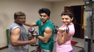 Ram charan,kajal and Krishna Vamsi Workout  in Jim : TV5 News - TV5NEWSCHANNEL