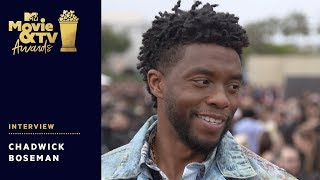 Chadwick Boseman Chats Wakanda Forever Salute, Avengers 4 & More! | 2018 MTV Movie + TV Awards - MTV