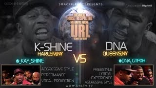 SMACK/URLTV PRESENTS DNA VS K-SHINE [FULL BATTLE]