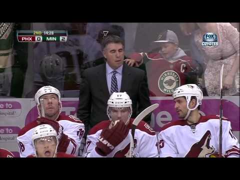 Kyle Chipchura vs Zenon Konopka fight Mar 27 2013 Phoenix Coyotes vs Minnesota Wild NHL Hockey
