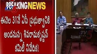 AP Capital Expert Committee | Report On August 31 To AP Govt : TV5 News - TV5NEWSCHANNEL
