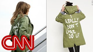 Melania Trump dons jacket saying 'I really don't care. Do U?' - CNN