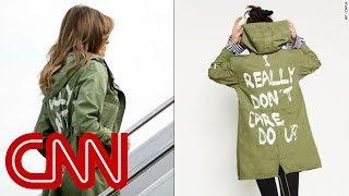 Melania Trump dons jacket saying 'I really don't care. Do U?' - CNN