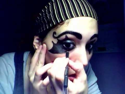 Maquillaje payaso sencillo