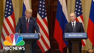 Trump Avoids Denouncing Election Meddling, Asks About DNC Server And Clinton Emails | NBC News - NBCNEWS