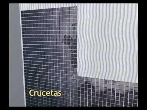 Vídeo colocación revestimientos y mosaicos de cristal y porcelánico. DUNE CERAMICA