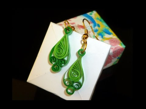 Quilling Paper Earrings Making Video Quilling Paper Earrings