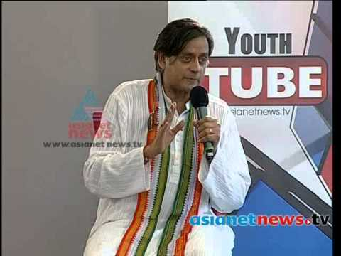 Youth Tube With Shashi Tharoor 2nd April 2014Part 2 ശശി തരൂര്‍