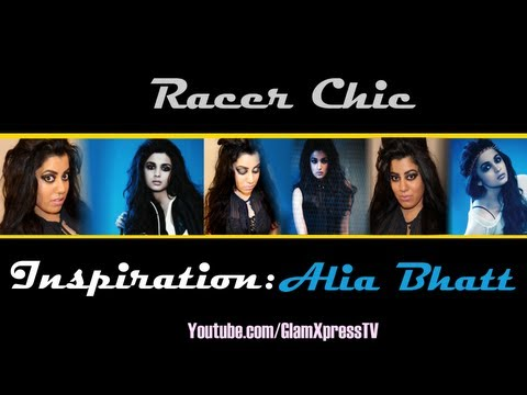 Bollywood Actress Alia Bhatt Inspired Racer Chic Makeup Tutorial