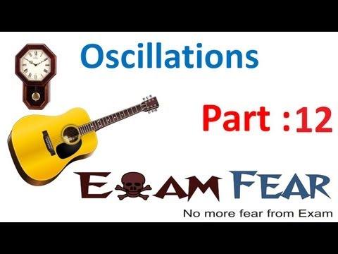 Physics Oscillations part 12 (Velocity in Simple harmonic Motion) CBSE class 11