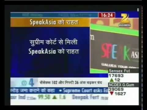 Speak Asia Online - Zee Business Coverage On 6th February 2012.