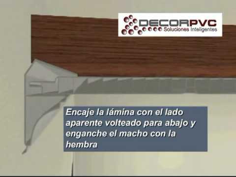 Falso Techo de PVC o Cielo Raso de PVC.  Sistema Decorpvc.