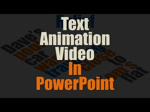 Create Compelling Text Animation Video In PowerPoint