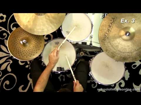 Paradiddles on the drum kit - melodic voicing