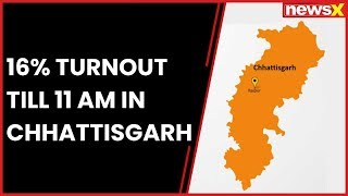 Chhattisgarh Election 2018:16.2% voter turnout in first phase of elections held in 18 constituencies - NEWSXLIVE