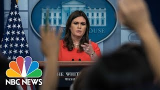 Watch Live: White House Press Briefing - November 17, 2017 - NBCNEWS