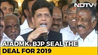 BJP, AIADMK Join Hands For Lok Sabha Polls - NDTV