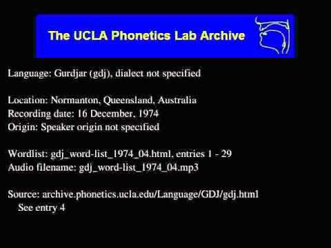 Gurdjar audio: gdj_word-list_1974_04