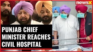 Amritsar train accident: Punjab CM Amarinder Singh reaches Civil hospital - NEWSXLIVE